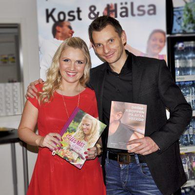 Jill och Jonas Bergqvist på releasefesten